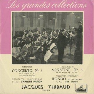 モーツァルト:ヴァイオリン協奏曲5番K.219,シューベルト:ソナチネ3番Op.137−3,モーツァルト(クライスラー編):ロンド