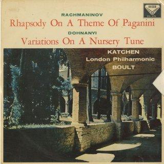 ラフマニノフ:パガニーニの主題による狂詩曲Op.43,ドホナーニ:童謡の主題による変奏曲Op.25