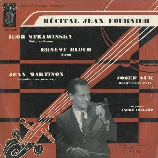 「ヴァイオリンリサイタル」ストラヴィンスキー:イタリア組曲,ブロッホ:ニーグン,マルティノン:無伴奏ソナチネ,スーク:4つの小品Op.17