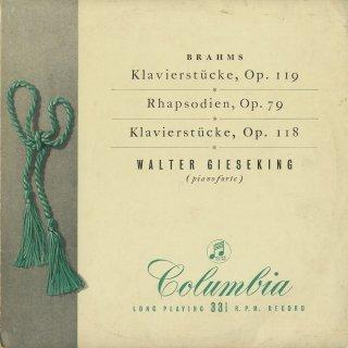ブラームス:4つの小品Op.119,2つの狂詩曲Op.79,6つの小品Op.118