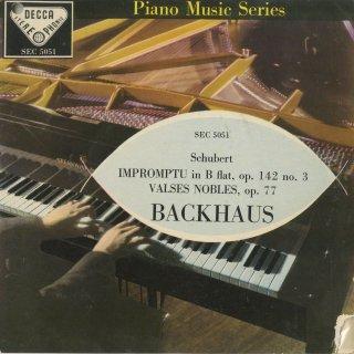 シューベルト:即興曲Op.142−3,高雅なワルツOp.77