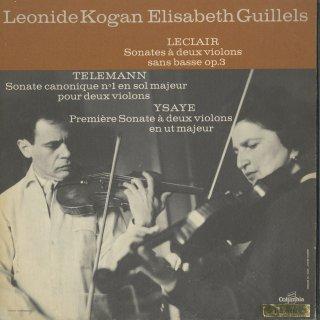 「2台ヴァイオリン曲集」ルクレール:ソナタ1,3番,テレマン:カノン風ソナタ,イザイ:ソナタ1番