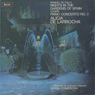 ファリャ:「スペインの庭の夜」,ショパン:ピアノ協奏曲2番Op.21