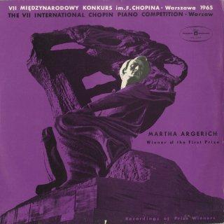 「1965年ショパン・コンクール」ショパン:ピアノ協奏曲1番Op.11,スケルツォOp.39,3つのマズルカOp.59