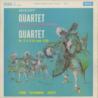 モーツァルト:弦楽四重奏曲20番K.499,22番K.589