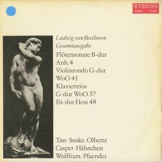 ベートーヴェン:フルートソナタAnh.4,ロンドWoO.41,ピアノトリオWoO.37,アレグレットHess48
