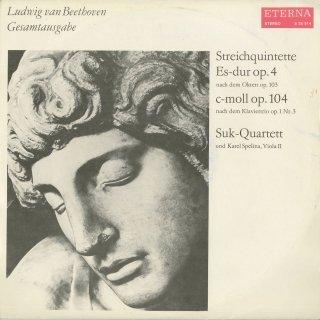 ベートーヴェン:弦楽五重奏曲Op.4(Op.103の編曲),Op.104(Op.1-3の編曲)