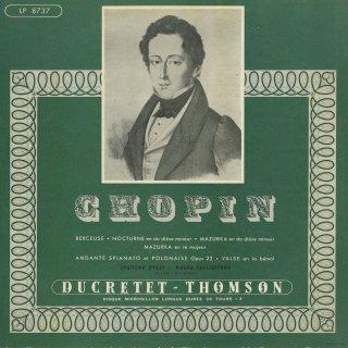 ショパン:子守歌Op.57,夜想曲Op.27-1,マズルカOp.33-2,6-2,アンダンテ・スピアナートと華麗な大ポロネーズOp.22,ワルツ5番Op.42