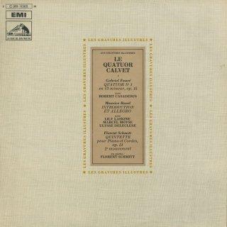 フォーレ:ピアノ四重奏曲1番Op.15,ラヴェル:序奏とアレグロ,F.シュミット:ピアノ五重奏曲Op.51〜第2楽章 他