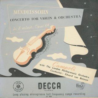 メンデルスゾーン:ヴァイオリン協奏曲Op.64