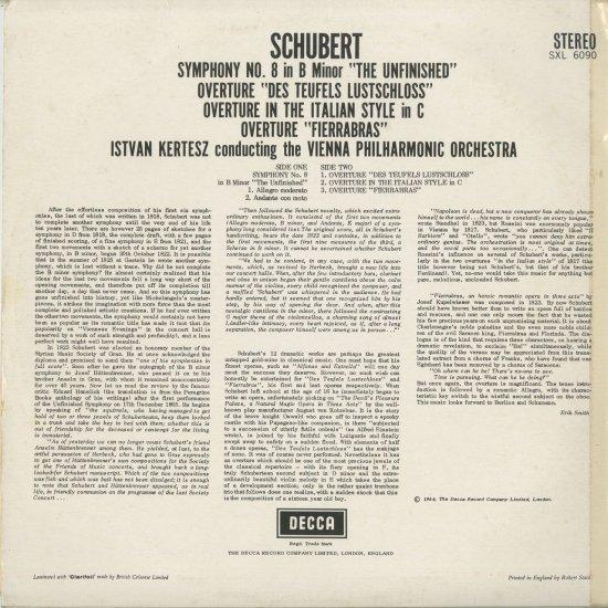 シューベルト:交響曲8番「未完...