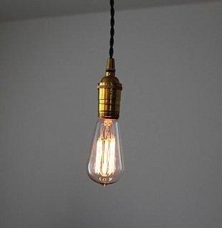 スイッチ付きソケットランプ/インダストリアル照明/ゴールド/ビンテージスタイル/E-26