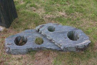 青石石彫ホールテーブル460×1250×H180�