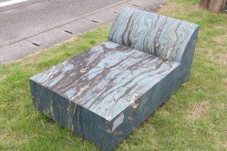 青石石彫 ベンチ背もたれ有1100×700