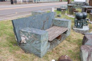 青石石彫ベンチ800×1900×H900