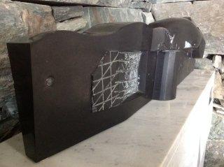 黒御影モニュメント(大理石の台座付)(S-97-2)340×1000×H260