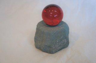 クリスタル球 赤(台付)Φ45