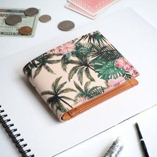 ハーフウォレット/二つ折り財布(トロピカル パーム)