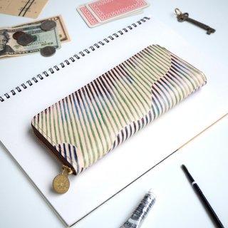 ラウンドファスナー長財布(オーロラ ストライプ)