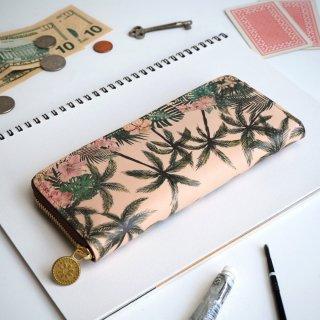 ラウンドファスナー長財布(トロピカル パーム)