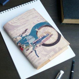 文庫本トールサイズ ブックカバー (レトロバイク)