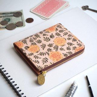 Lウォレット  L字ファスナー財布(ヴィンテージ マリーゴールド)