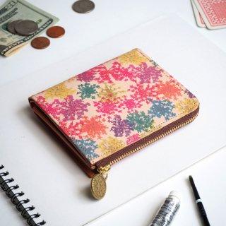 L字ファスナー財布(ビビット レースフラワー)