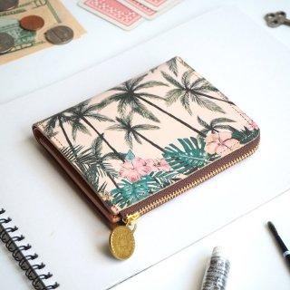 Lウォレット  L字ファスナー財布(トロピカル パーム)