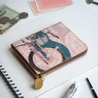 Lウォレット L字ファスナー財布(レトロバイク)