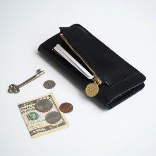 iPhone XR ファスナーポケット付 アイフォンケース(ブラック)