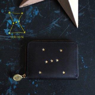 ラウンドファスナー コンパクト財布(ORION ブラック)