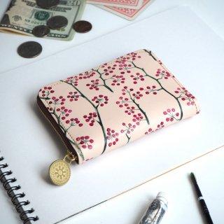 ラウンドファスナー コンパクト財布(アカイミ)