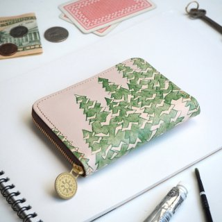 ラウンドファスナー コンパクト財布(モミノキ)