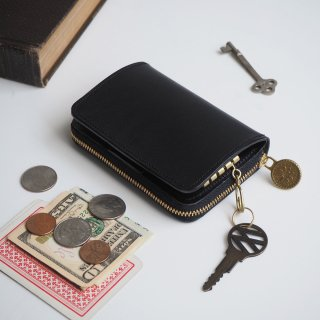 キーウォレット [ ミニ 財布 + キーケース ](ブラック)
