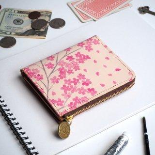 L字ファスナー財布(サクラ)桜