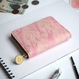 ラウンドファスナー コンパクト財布(フェミニン チューリップ)
