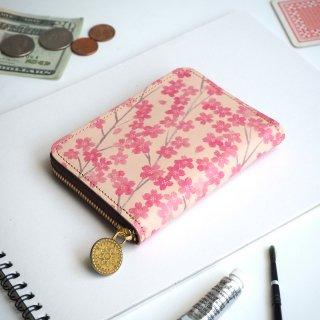 ラウンドファスナー コンパクト財布(サクラ) 桜
