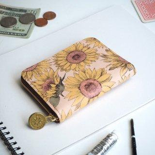 ラウンドファスナー コンパクト財布(サンフラワー)