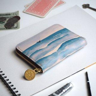 ラウンドファスナー コンパクト財布(ウェーブ)