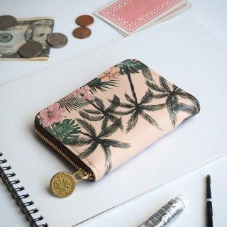 ラウンドファスナー コンパクト財布(トロピカル パーム)