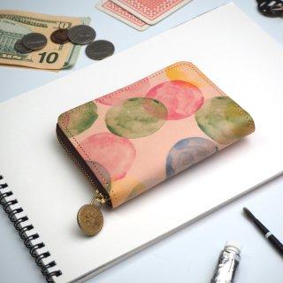 ラウンドファスナー コンパクト財布(シャボン玉)