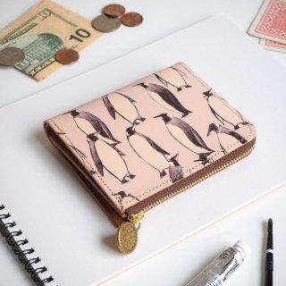 L字ファスナー財布 (ペンギン)
