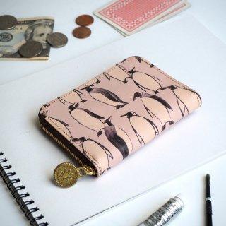 ラウンドファスナー コンパクト財布(ペンギン)