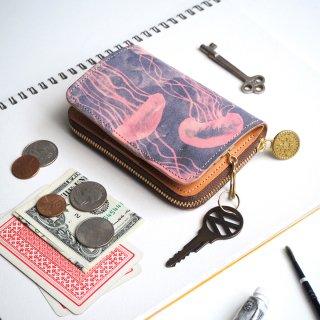 キーウォレット [ ミニ 財布 + キーケース ](ドリーミー ジェリーフィッシュ)