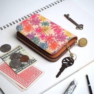 キーウォレット [ 小さい 財布 + キーケース ](ビビット レースフラワー)