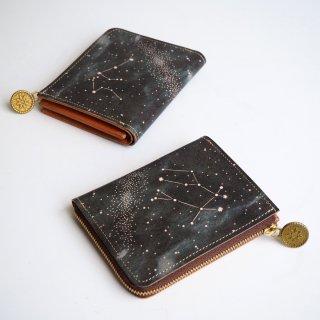 L字ファスナー財布(12星座の星空)