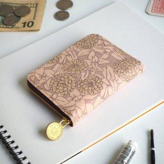 ラウンドファスナー コンパクト財布(グレイッシュ ジニア)