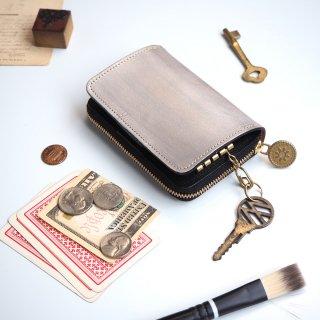 キーウォレット [ 小さい財布 + キーケース ](ペイント シルバー)