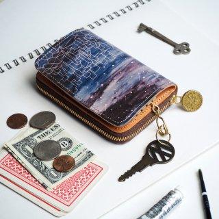キーウォレット [ ミニ 財布 + キーケース ](スターリー ナイト)