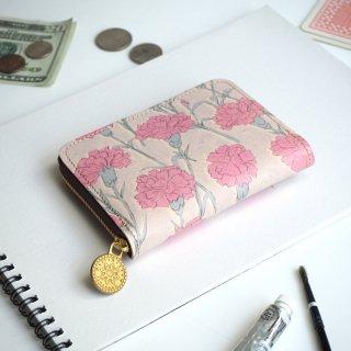 ラウンドファスナー コンパクト財布(カーネーション)